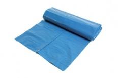 Afvalzak LDPE 80x110 60mu Blauw