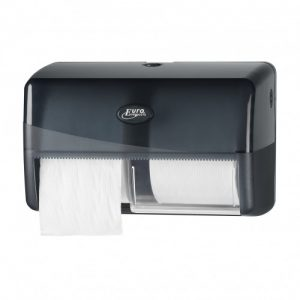 Pearl Black Duo Toiletrolhouder
