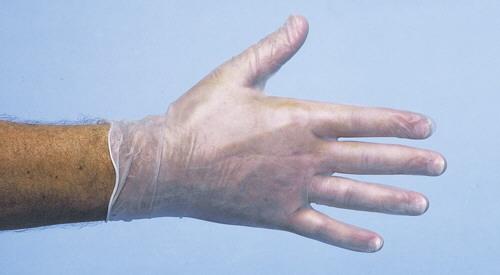 Vinyl Handschoen Poedervrij Wit Maat S